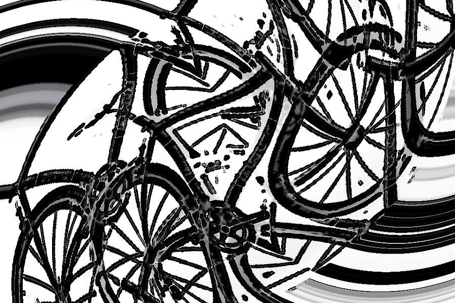 Bike Dance Digital Art