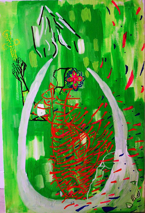 Bikira Maria - Rosa Mystica Painting