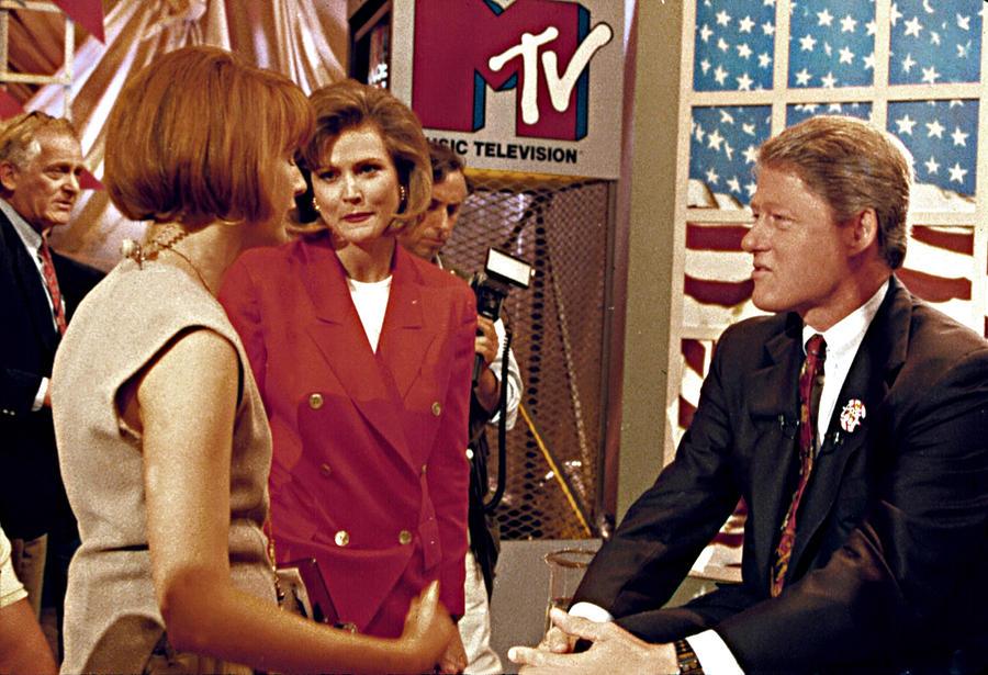 Bill Clinton, Being Interviewed Photograph