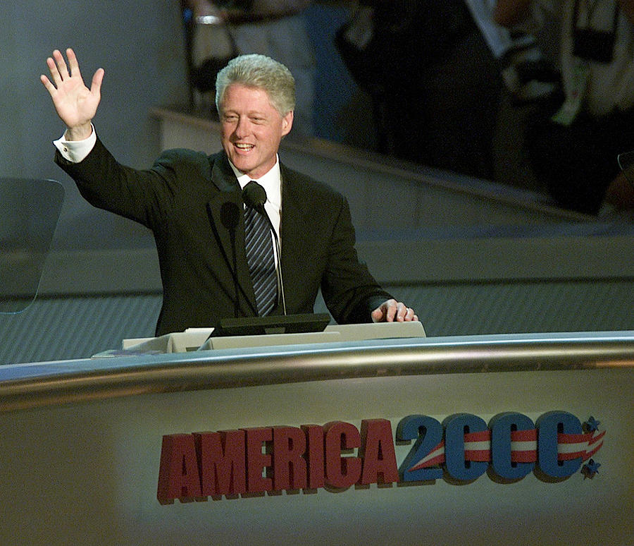 Bill Clinton, Touched By Emotion Photograph