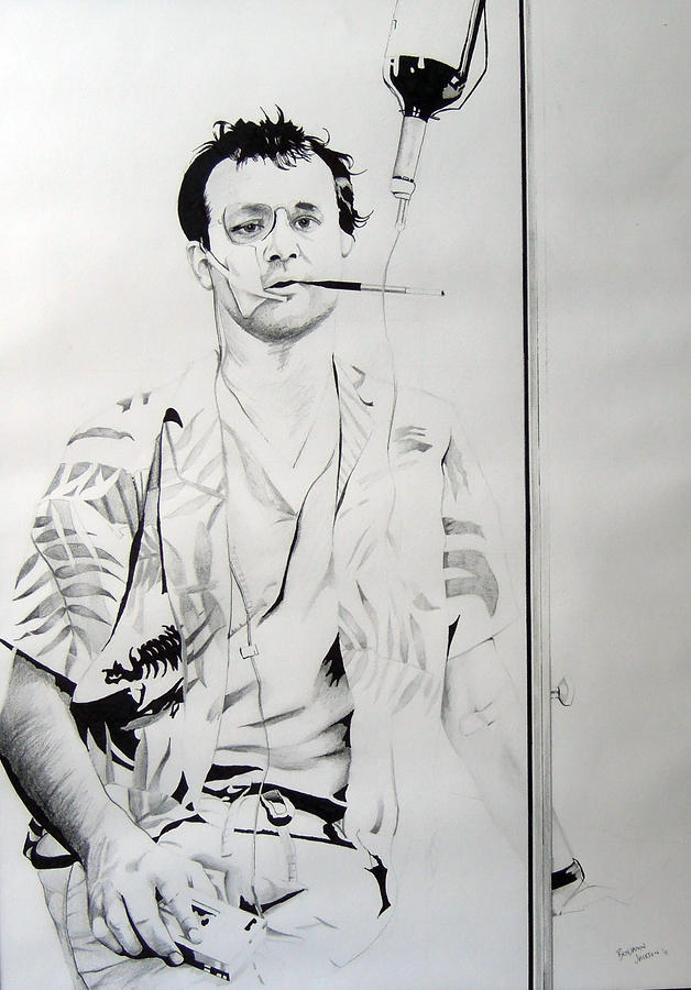 Bill Murray From The Movie where The Buffalo Roam Drawing