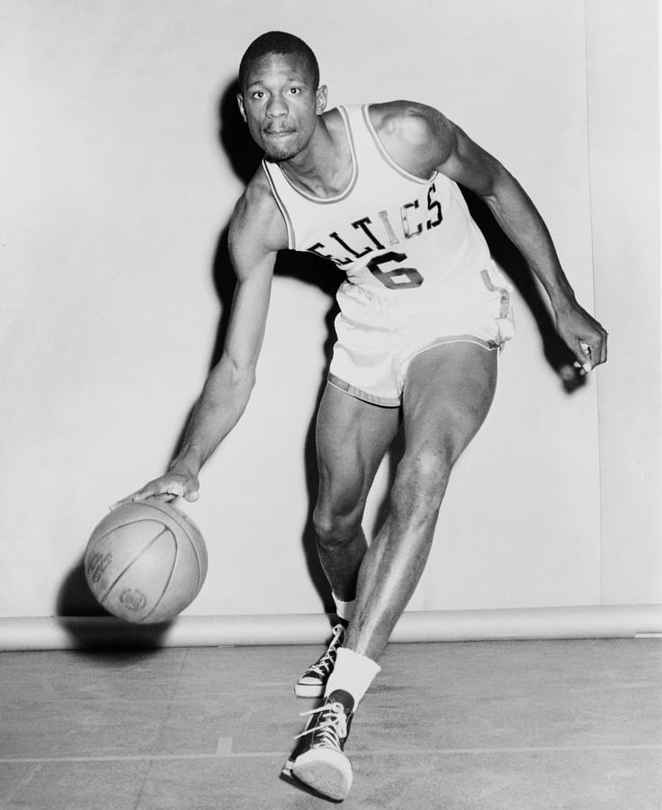 Bill Russell In His Boston Celtics Photograph
