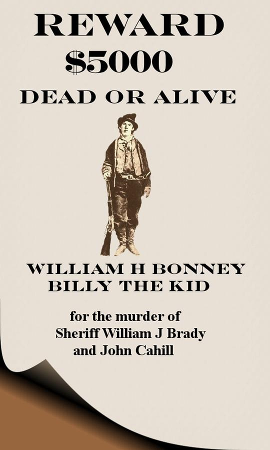 Billy The Kid Poster Digital Art