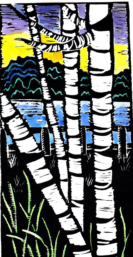 Birch Lake Painting  - Birch Lake Fine Art Print