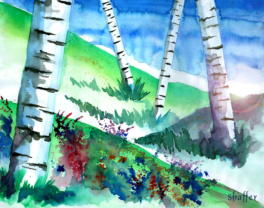 Birch Trees Painting  - Birch Trees Fine Art Print