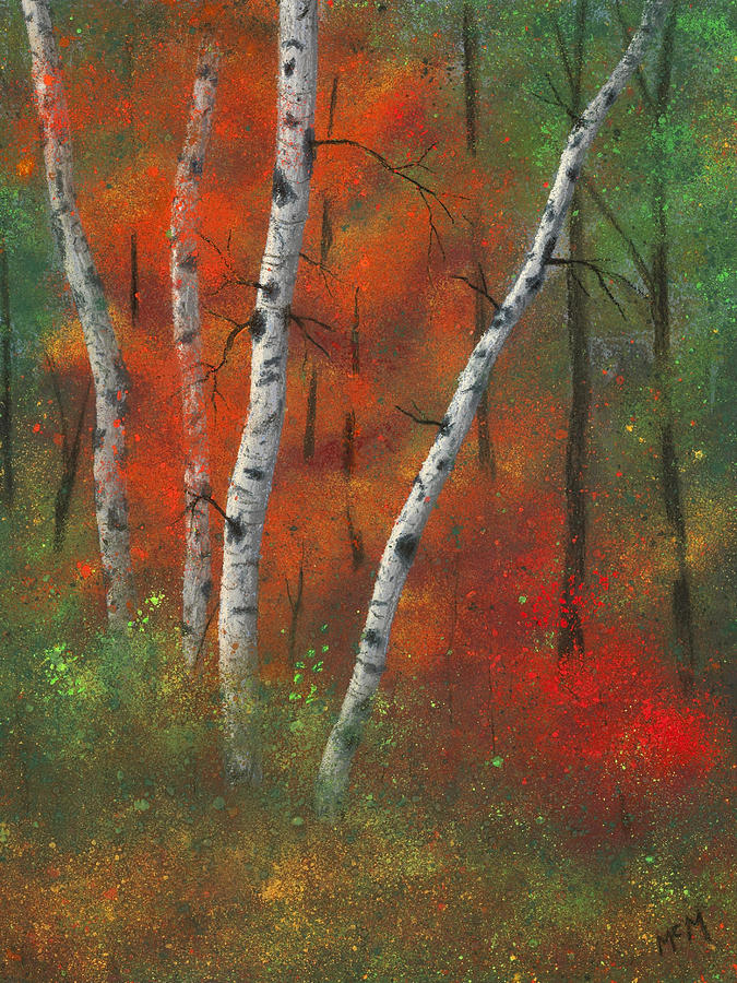 Birches II Painting