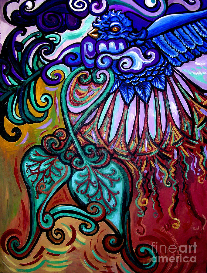 Bird Heart IIi Painting  - Bird Heart IIi Fine Art Print