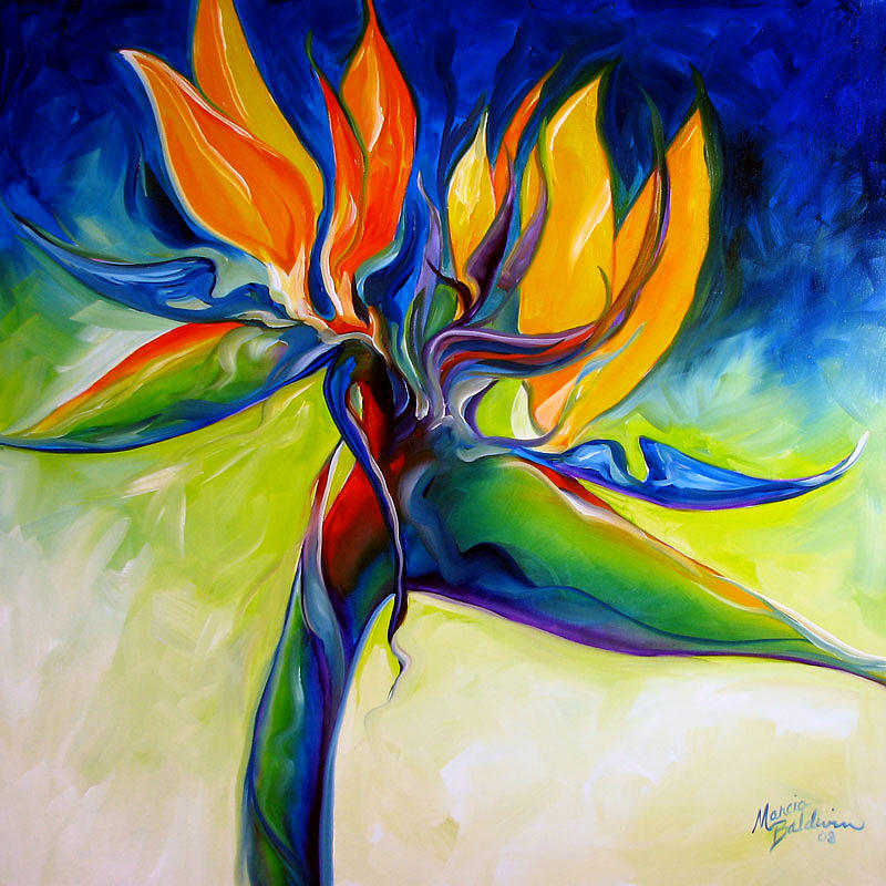 Bird Of Paradise 24 Painting  - Bird Of Paradise 24 Fine Art Print