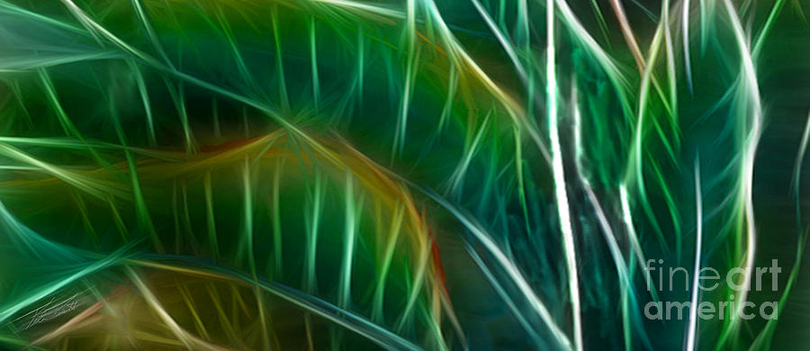 Bird Of Paradise Fractal Panel 3 Digital Art  - Bird Of Paradise Fractal Panel 3 Fine Art Print