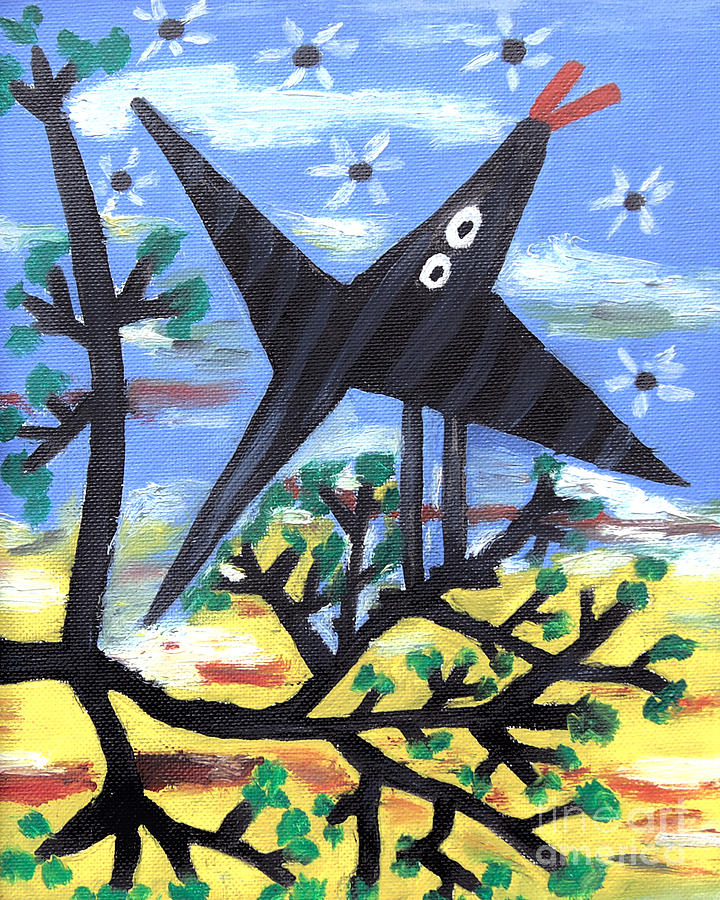 Bird On A Tree After Picasso Painting  - Bird On A Tree After Picasso Fine Art Print
