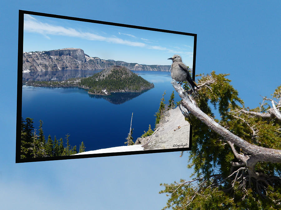 Birds Eye View Of Crater Lake Photograph  - Birds Eye View Of Crater Lake Fine Art Print