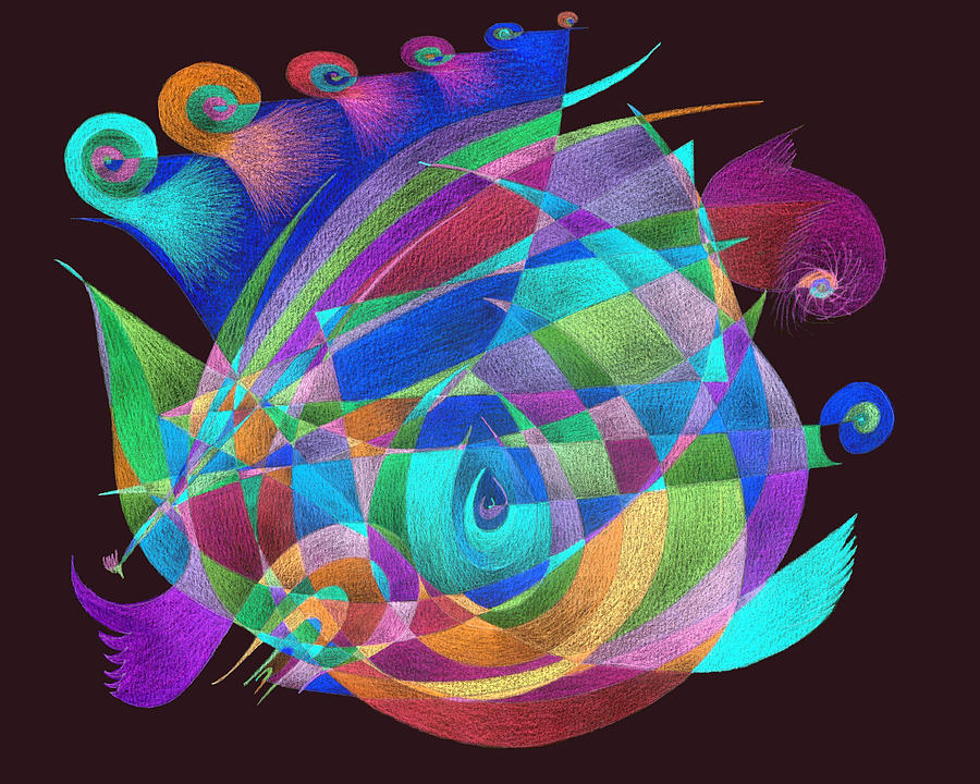 birds inverted colors painting by tatyana zverinskaya