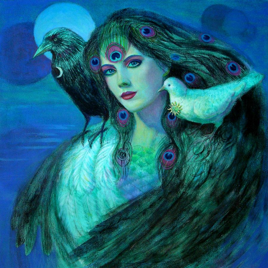 Birds Of Duality Fantasy Art Sue Halstenberg