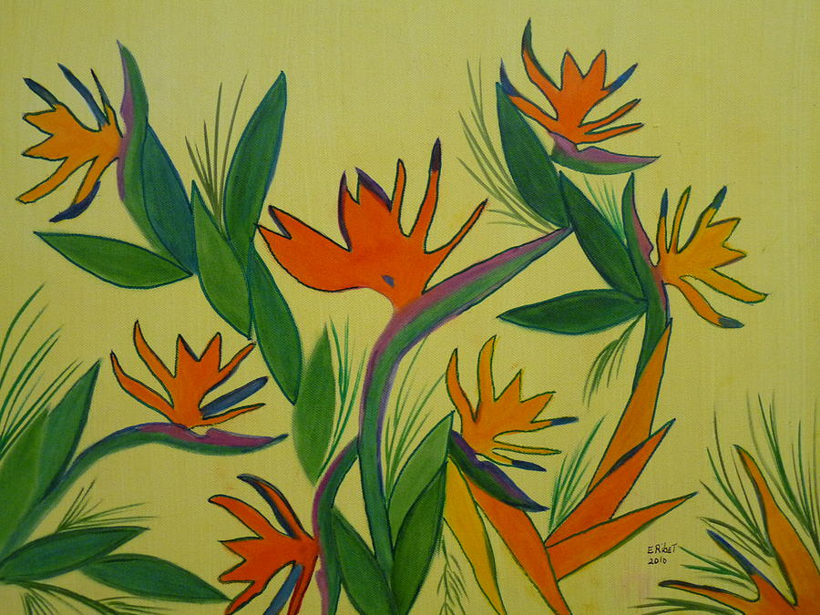 Birds Of Paradise Painting