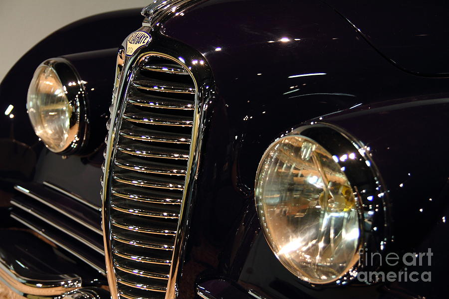 Black 1948 Delahaye . Grille View Photograph