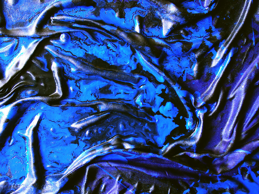 Black And Blue Detail Mixed Media