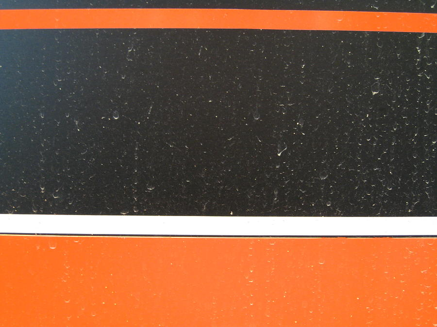 Black And Orange Photograph