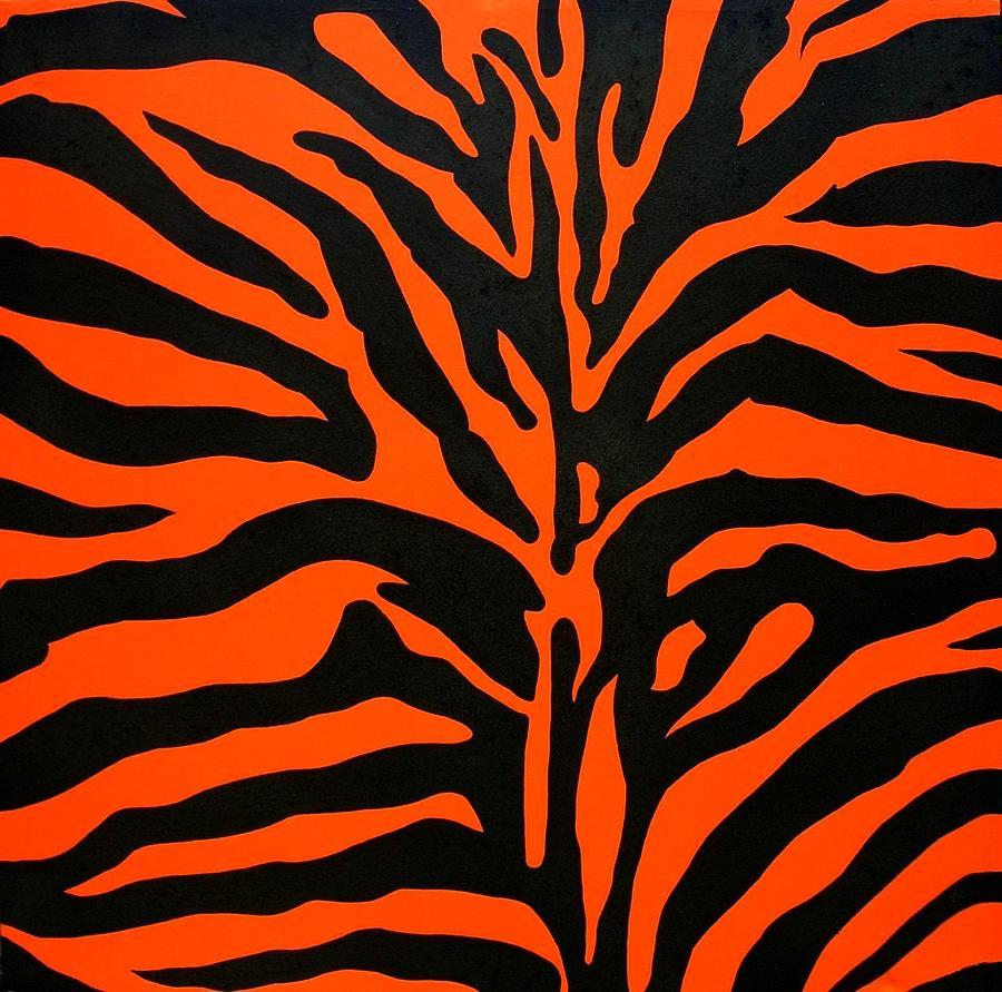 zebra print orangeOrange Zebra Print Pattern