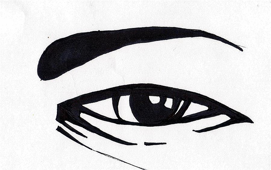 Black And White Eye Drawing
