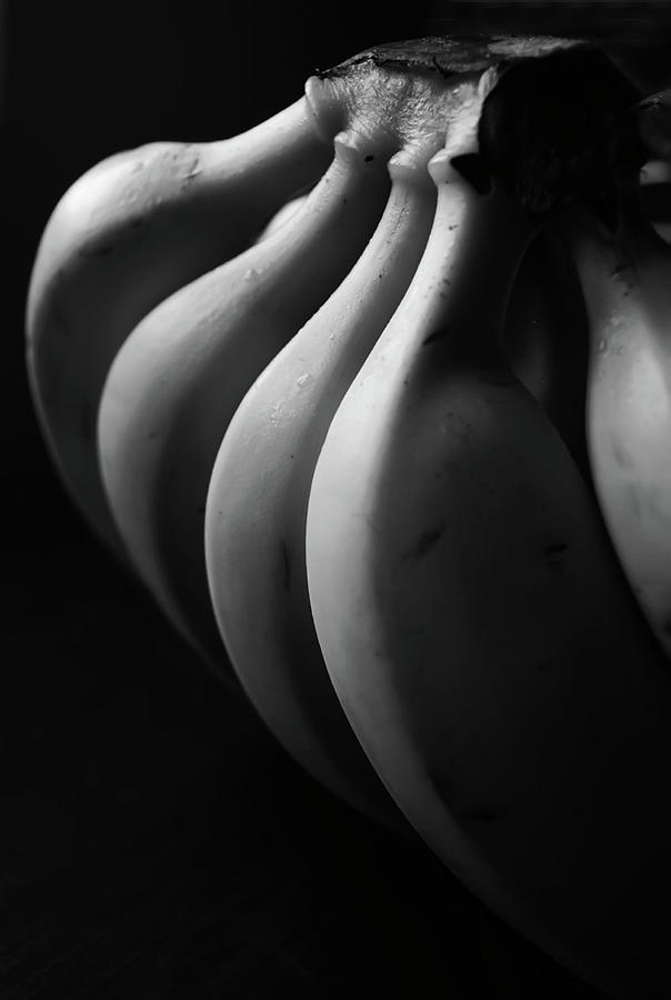 Black And White Image Of Banana Photograph  - Black And White Image Of Banana Fine Art Print