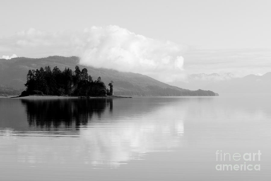 Black And White Island Near Hoonah Photograph  - Black And White Island Near Hoonah Fine Art Print