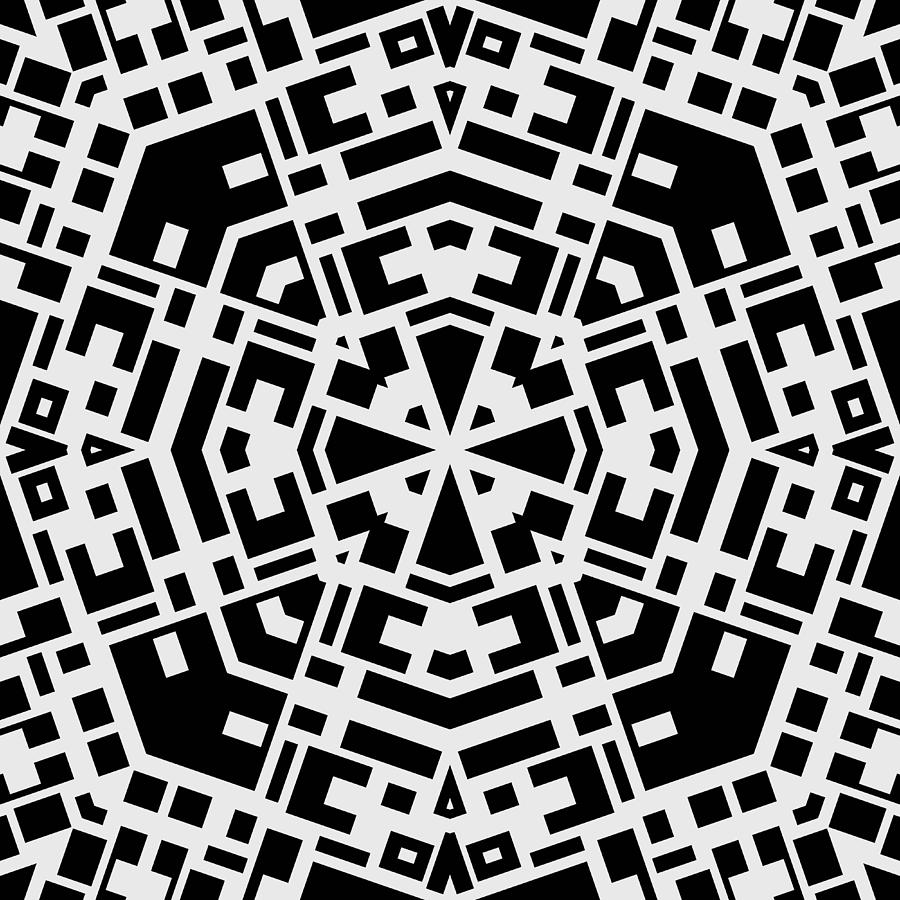 Black And White Kaleidoscope Photograph  - Black And White Kaleidoscope Fine Art Print