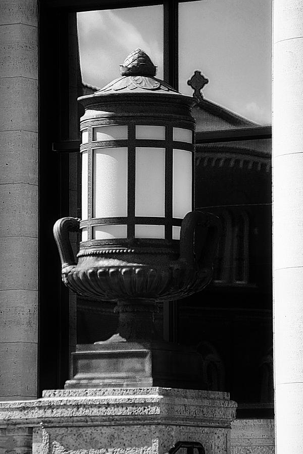 Black And White Lamp Photograph  - Black And White Lamp Fine Art Print