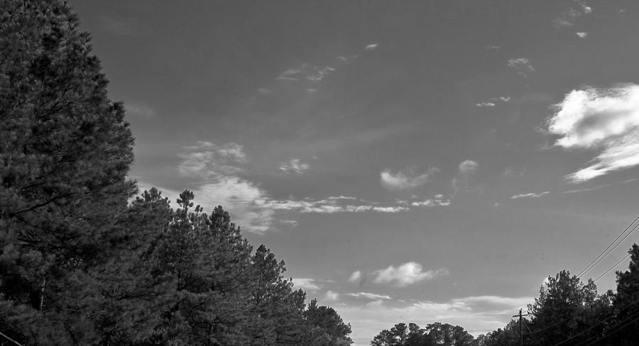 Black And White Skyline Photograph  - Black And White Skyline Fine Art Print