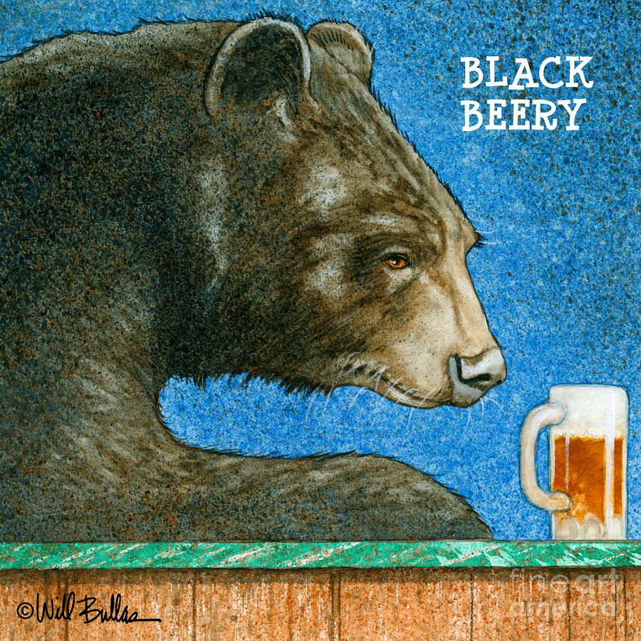 Black Beery... Painting  - Black Beery... Fine Art Print