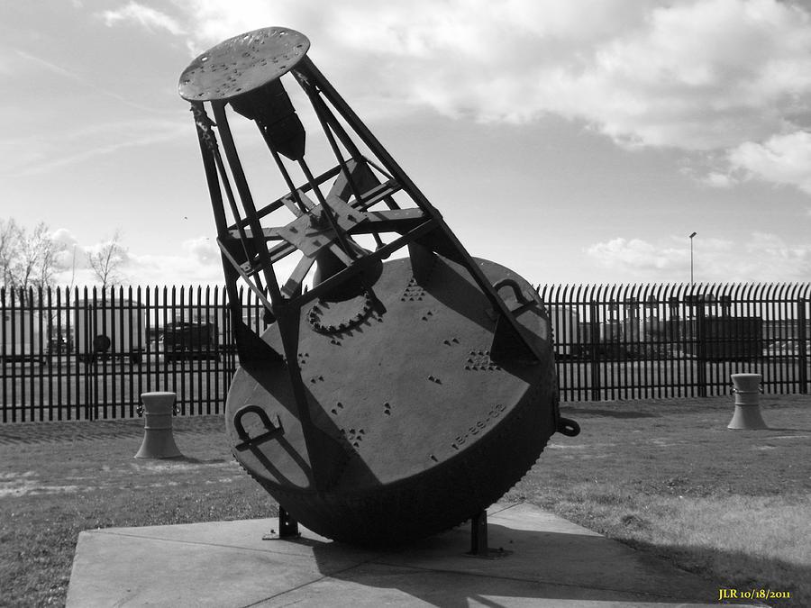 Bouys Aids To Navigation Buffalo Lighthouse 1833 Photograph - Black Bouy by Joseph Rennie