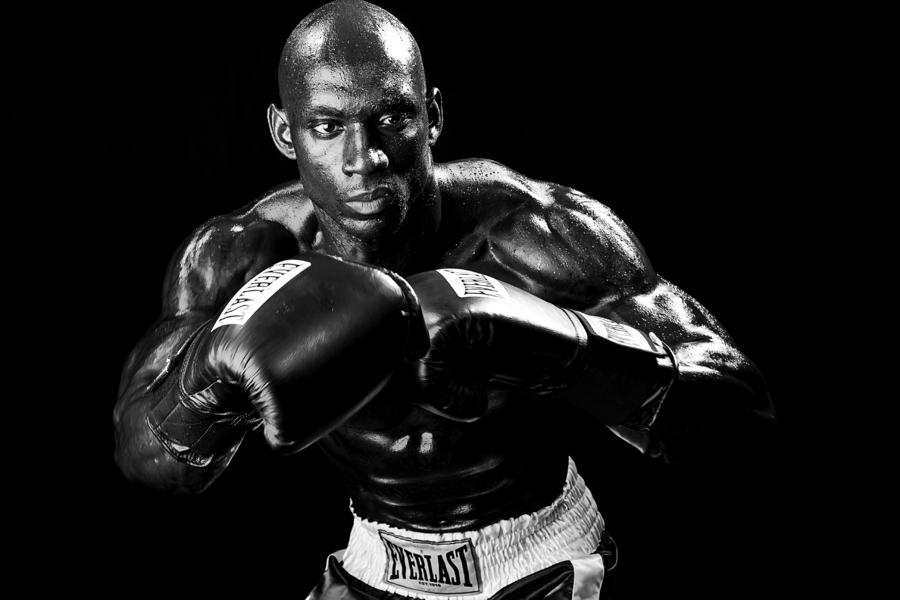 Black Boxer In Black And White 07 Photograph