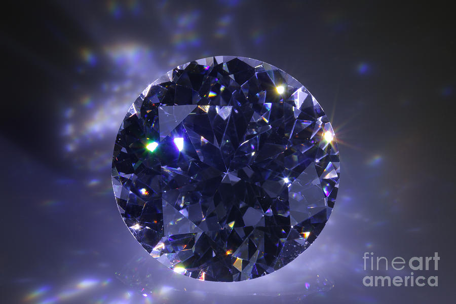 Black Diamond Jewelry  - Black Diamond Fine Art Print