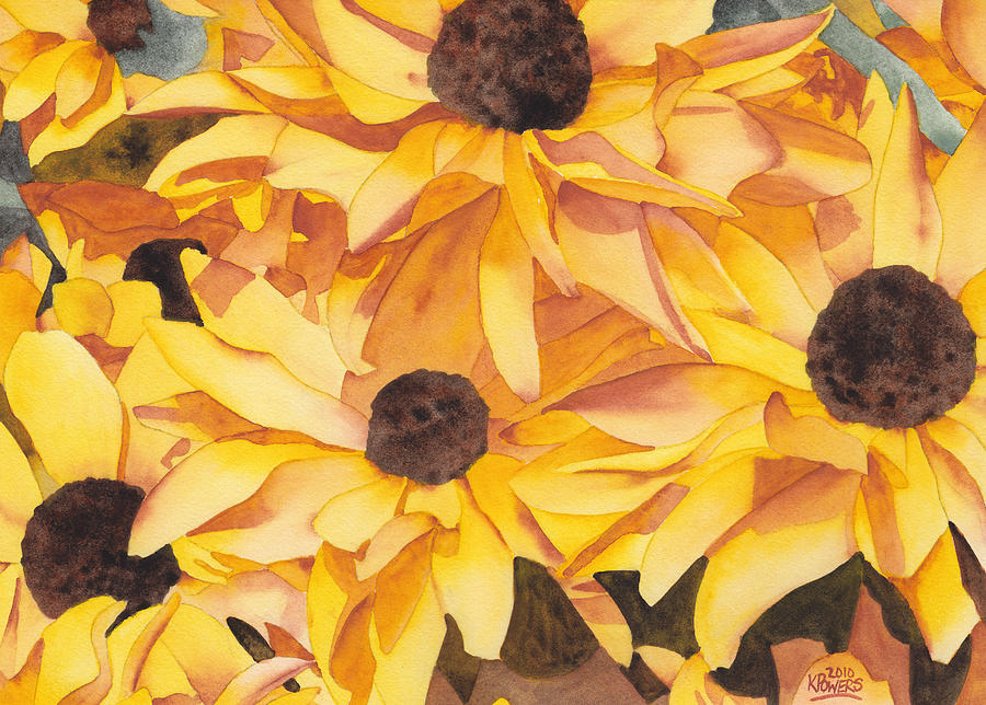 Black Eyed Susans Painting  - Black Eyed Susans Fine Art Print