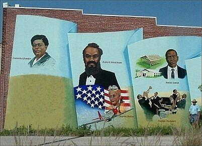 Black history mural of punta gorda by charles peck for Black history mural