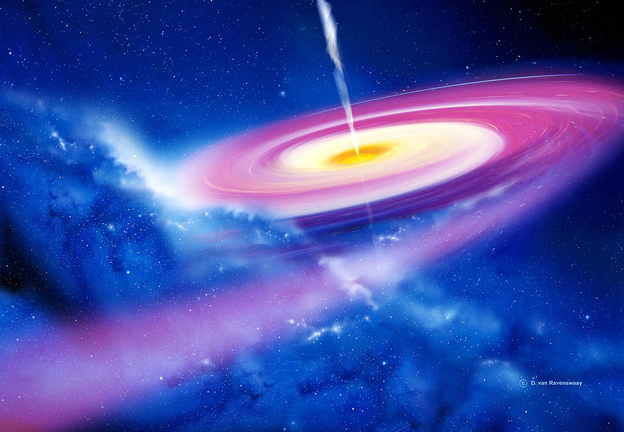 Astronomy Photograph - Black Hole by Detlev Van Ravenswaay