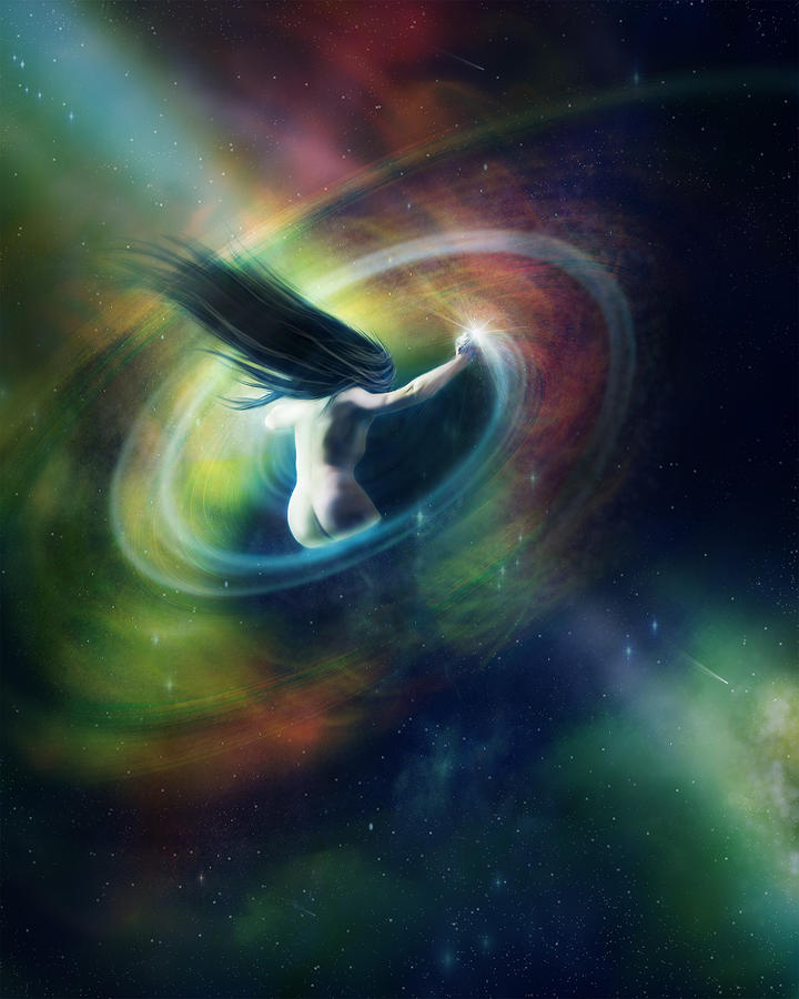Black Hole Digital Art  - Black Hole Fine Art Print