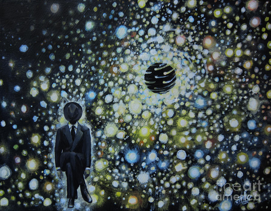 Black Hole Man Painting  - Black Hole Man Fine Art Print