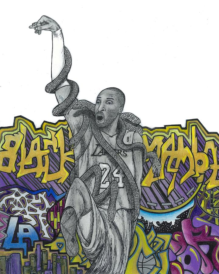 Black Mamba Drawing  - Black Mamba Fine Art Print