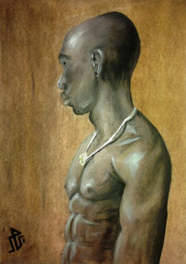 Black Man Painting  - Black Man Fine Art Print