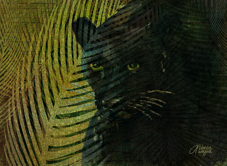 Black Panther Mixed Media  - Black Panther Fine Art Print