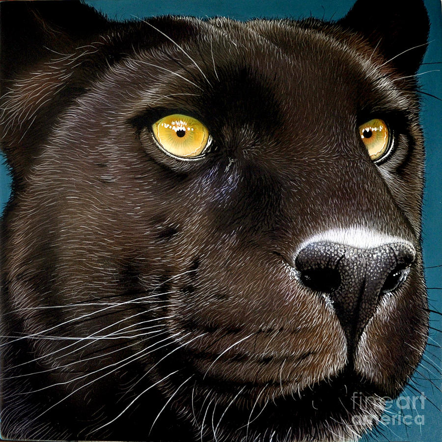 Black Panther Painting  - Black Panther Fine Art Print