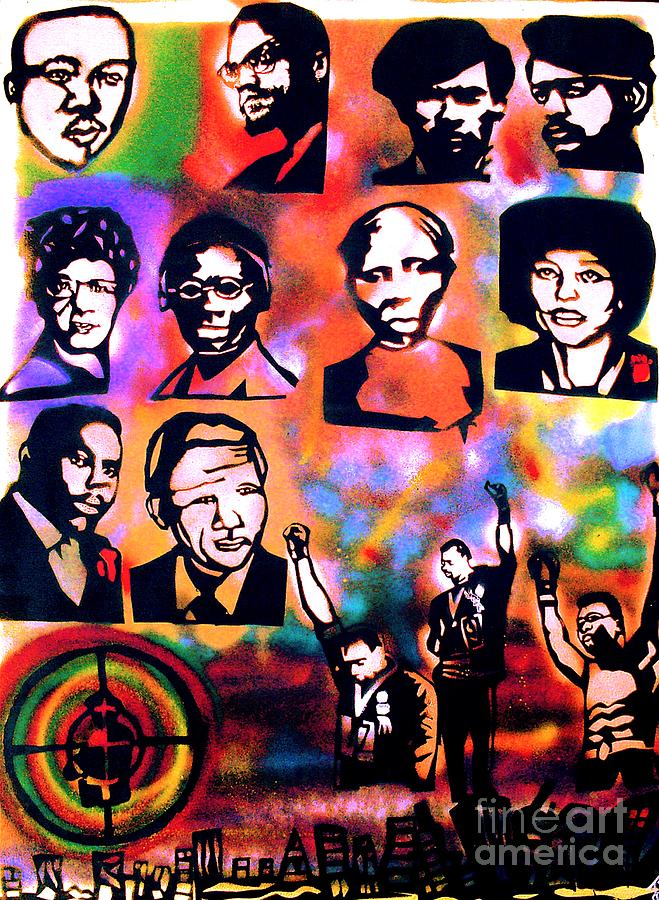 Black Revolution Painting  - Black Revolution Fine Art Print