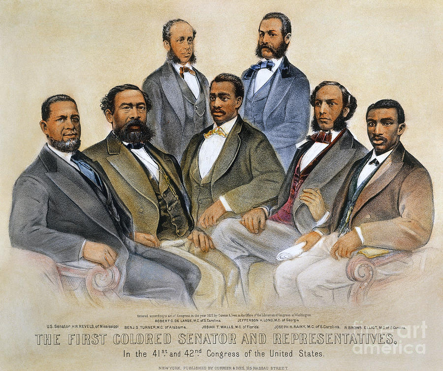 Black Senators, 1872 Photograph