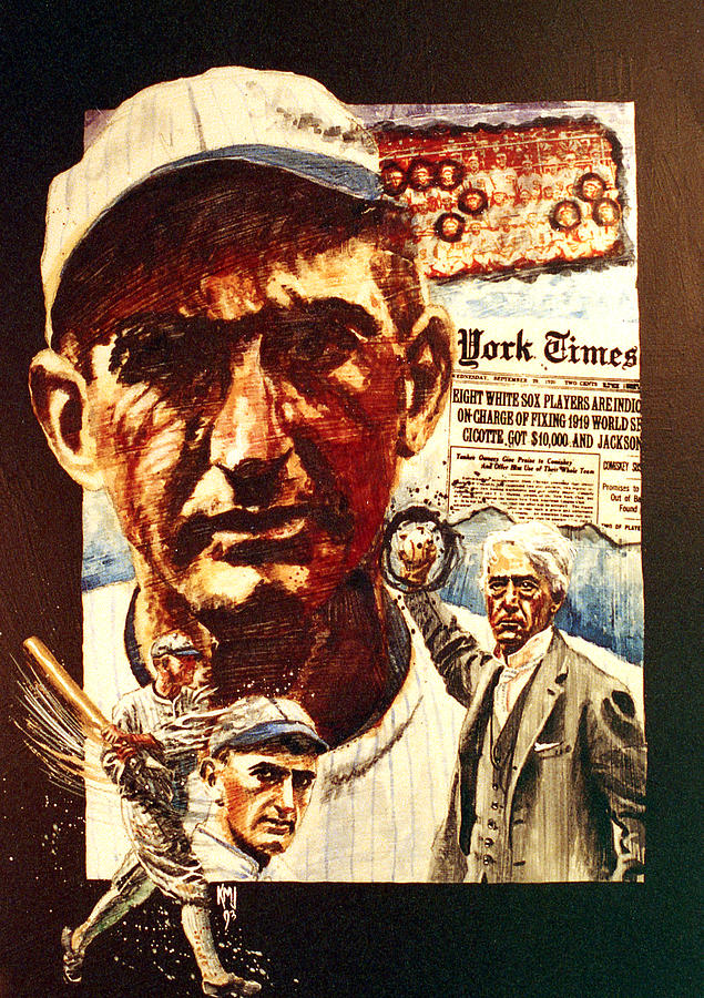 Black Sox Painting  - Black Sox Fine Art Print
