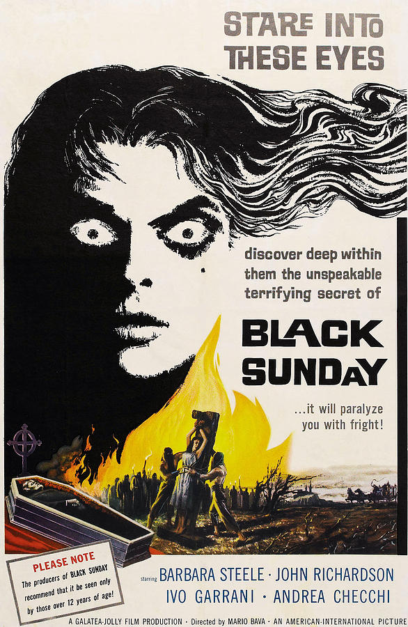 Black Sunday, Barbara Steele, One-sheet Photograph