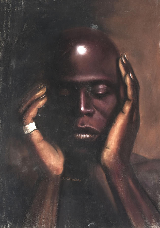 Black Thought Pastel  - Black Thought Fine Art Print