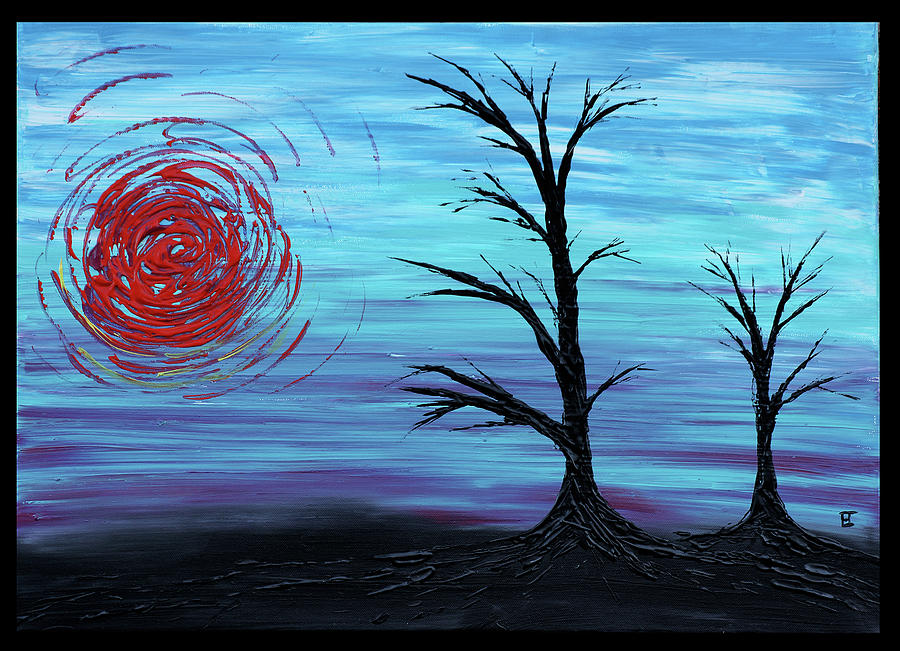 Black Trees Painting