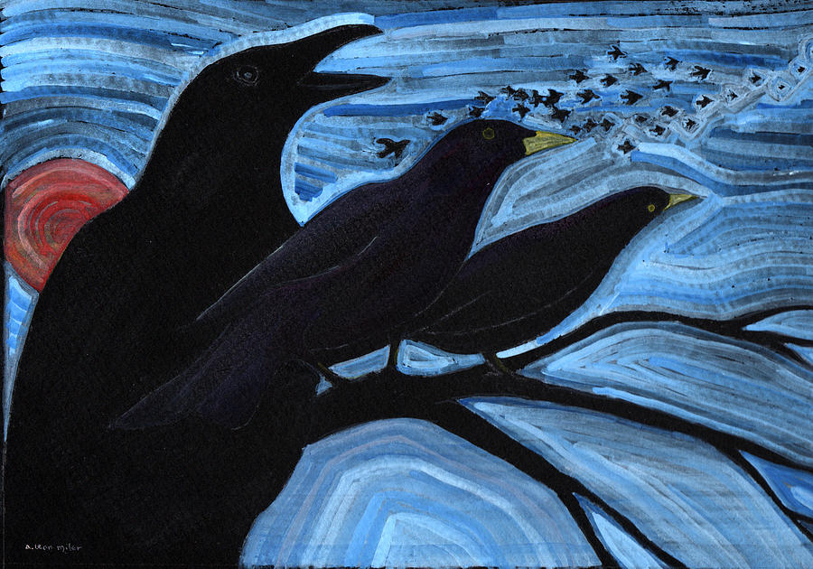 Blackbirds Painting