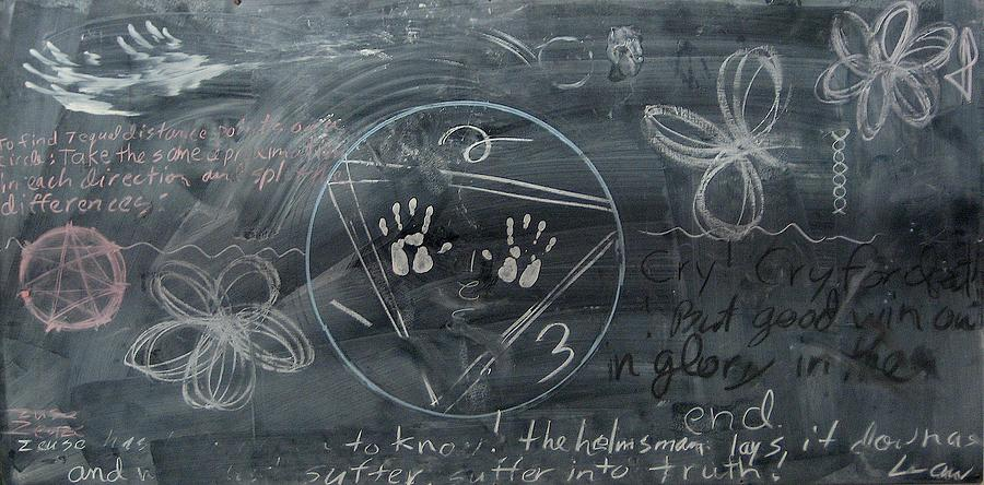 Blackboard Science And Art II Ceramic Art  - Blackboard Science And Art II Fine Art Print