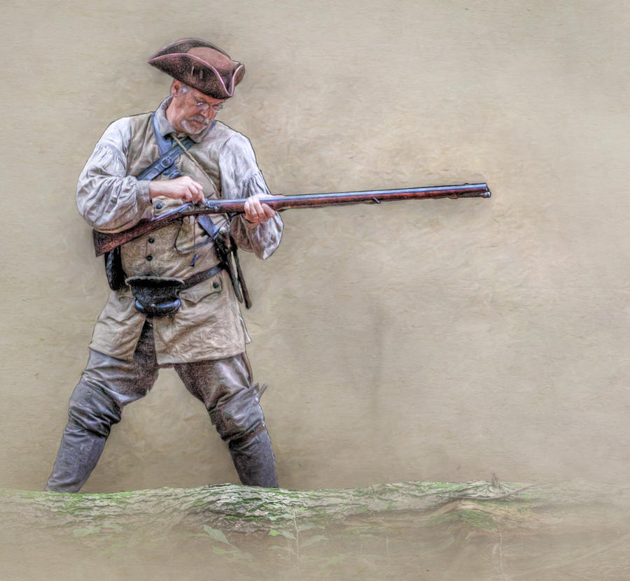 Blackpowder Woodsman Version Two Digital Art  - Blackpowder Woodsman Version Two Fine Art Print